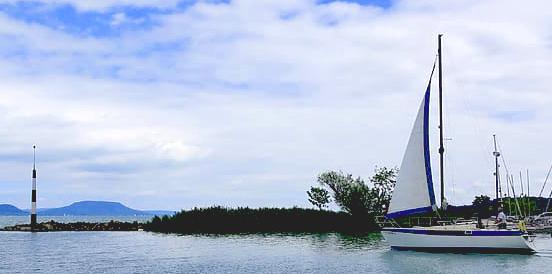Hajó fedélzet a Balatonon